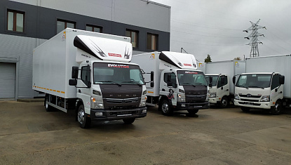 Изотермический фургон на шасси FUSO Canter TF FECX1H
